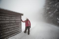 sunday-3088 (FarFlungTravels) Tags: winter ski skiing laurelhighlands pennsylvania reservoir morning sunrise foggy snow squall
