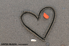 love is... (dimitra_milaiou) Tags: heart love red summer beach shore sea sand life stone live shape pure color dimitra milaiou photography nikon d d90 90 andros island minimal minimalism design greece europe ngc