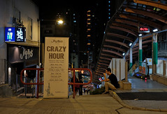 """crazy hour"" (hugo poon - one day in my life) Tags: xt2 23mmf2 hongkong saiyingpun highstreet centrestreet citynight colours longnight crazyhour solitude waiting tired alone vanishing"