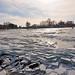 Winter scene , lake Balaton