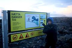 Reynisfjara (fordc63) Tags: iceland travel basalt lava sign rocks beach ocean sea