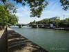 View over the Seine and Sully bridge (eutouring) Tags: paris france riverseine river seine quai pontdesully quaidebethune view