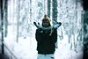 Listen, The Snow Is Falling (puppyhand) Tags: lapland finland finnish ranua 2016 winter christmas time festive holiday holidays snow snowy outside outdoor outdoors tree trees forest sesame street bert and ernie black coat jacket grey scarf gloves shock shocked cold
