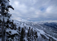 Whistler Blackcomb from Crystal Hut (Ruth and Dave) Tags: crystalhut whistlerblackcomb blackcombmountain skiresort trees pistes skirun clouds sky weather weatherphotography