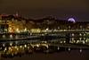 Reflections in the Saône River (Chemose) Tags: pont bridge water eau saône saone river rivière reflet reflection lumière light nuit night rhône lyon france canon eos 7d hdr décembre december winter hiver
