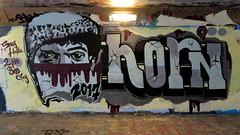 Graffiti Overschie (oerendhard1) Tags: graffiti streetart urban art rotterdam tunneltje underpass overschie horn