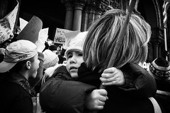 Young activist (trochford) Tags: boy child kid sign protest demonstration candid portrait street muslimban noban nobannowall resist copleysquare boston bostonma bostonmassachusetts ma massachusetts newengland usa bw blackandwhite blackwhite noiretblanc blancoynegro mono monochrome canon outdoor bnw