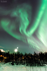 MoonVenusMarsAurora (AngryTheInch42) Tags: moon mars venus astrophotography astronomy aurora auroraborealis northernlights kiruna sweden arcticcircle arctic stars winter snow