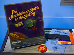 Hitchhiker's goodies (Michael Dunn~!) Tags: computerhistorymuseum dontpanic microscopicspacefleet thehitchhikersguidetothegalaxy chm computer infocom mountainview videogame
