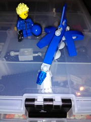 Buck George and the Blue Talon (Zaximillian) Tags: lego starfighter