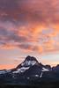Mount Wilbur (Bob Bowman Photography) Tags: sunset color mountain snow landscape gnp glaciernationalpark swiftcurrent mountwilbur rockies montana glaciers manyglacier fog clouds outdoor alpine