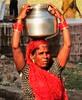 Woman with water jar (bokage) Tags: inindiamadhya pradesh khajuraho village woman well water barefooot mywinners bokage