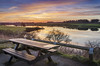 Hurworth Burn Reservoir, Co Durham (DM Allan) Tags: picnic table hurworthburn reservoir trimdon durham countryside water evening sunset