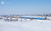 Not blue enough... (cossie*bossie) Tags: bdz cargo freight bulgarian state reailways train kazichene sofia bulgaria snow landscape le5100 060ea class 46 46036 036 electric locomotive electroputere craiova reloc asea