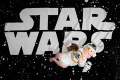 Will - 21 days old (MorboKat) Tags: baby newborn infant babyboy cute bb8 geek nerd beebeeate baby8 starwars droid toy toys