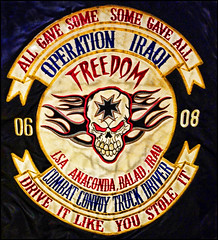 Some Stories I'd Like To Forget (raymondclarkeimages) Tags: rci raymondclarkeimages usa 8one8studios g4 smartphone colors patch cameraphone vs986 war lg skull iraq combat anaconda iraqi combattruckdriver freedom service