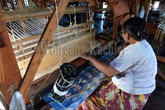 30098738 (wolfgangkaehler) Tags: asia asian southeastasia myanmar burma burmese inlelake villagelife lake innpawkhonevillage woman workshop people worker working weaver weaving weavingloom weavinglooms weavingcloth loom looms