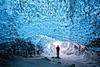 Crystal Ice Cave - Iceland (Alan Amati) Tags: amati alanamati iceland nature natural ice cave crystal glacier person man entry entrance winter south coast topf25 topf50 topf75 topf100 topf200 topf300
