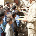 Afghan Elite Policemen Deliver School Supplies