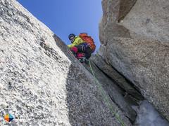 Georg having fun! (HendrikMorkel) Tags: mountains alps mountaineering chamonix alpineclimbing arêtedescosmiques arcteryxalpineacademy2015