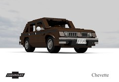 Chevrolet Chevette 5-Door Hatchback (1978), From the Film 'Falling Down' (1993) (lego911) Tags: auto usa classic chevrolet film car america movie model lego render anger 1993 management chevy 1978 hatch 1970s challenge 91 compact cad lugnuts hatchback povray 5door fallingdown chev moc chevette ldd angermanagement miniland tcar 5dr dfens lego911