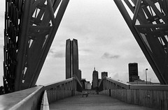 OKC (j0ooshhhua) Tags: blackandwhite film oklahoma skyline downtown minolta delta 400 okc oklahomacity sortof x370