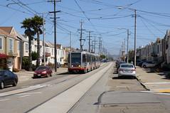 MUNI 1485 in San Francisco, 46th Avenue DDC_4360 (foto_DM) Tags: sf sanfrancisco zoo trolley tram muni streetcar breda ltaraval taraval strassenbahn vincente 46th lline triebwagen motorwagen sfmta gelenkwagen llinie vincentestreet