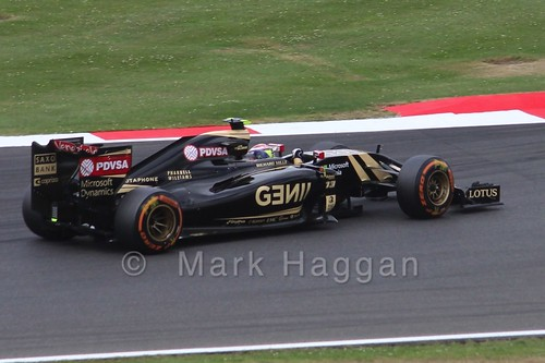 Pastor Maldonado in Free Practice 3 for the 2015 British Grand Prix at Silverstone