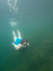 Annika im Marxweiher (Knipsbildchenknipser) Tags: color uw girl see annika diving freediving farbe tauchen unterwasser waldsee apnoe freitauchen marxweiher