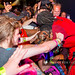 Public Enemy - Flavor Flav hugging a young fan in the audience