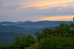 Sunset Over the Hills (SunnyDazzled) Tags: statepark trees sunset summer sky mist newyork mountains clouds landscape drive stormy hills bearmountain perkins viewpoint