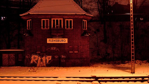 Ehm. Stellwerk am Bundesbahnhof Flensburg