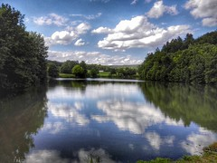 Reflections (Michael Eickelmann) Tags: lake nature clouds reflections landscape see natur wolken landschaft spiegelung reflektionen