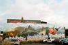 Beauteous Mural (Georgie_grrl) Tags: graffitijauntwithjan graffiti streetart expression creative colourful pentaxk1000 rikenon12828mm alleyway toronto ontario mural eastchinatown gerrardstreet hummingbird mountains flowers parkinglot beautification
