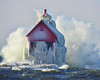 Waves on Lake Michigan (John Rothwell) Tags: grandhaven holland michigan lake lakemichigan waves gust gale winter nature december lighthouse