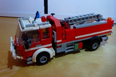 CFA Tanker (LonnieCadet) Tags: lego 2016 brick moc custom truck appliance cfa country fire authority australia victoria emergency old new recent vehicle red blue grey white