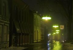 Wet Curved Street (josbert.lonnee) Tags: nite night foggy mistig nacht wet curve curved street nat straat bocht netherlands mist fog