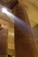 A Ray Of Light (Chris Irie) Tags: abydos setii lightbeam temple egypt column