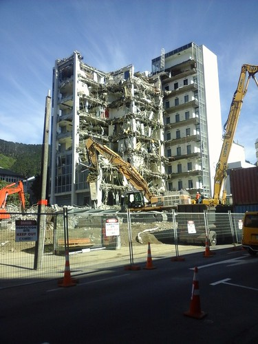 61 Molesworth St, Wellington in the midst of demolition