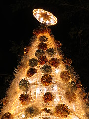 village christmas tree and celebration (DOLCEVITALUX) Tags: christmastree light lights decorations mass church manger village philippines