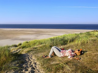 Kanitha relaxing at the Northern tip of Texel island