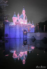 Reflections of Sleeping Beauty Castle (Pirate Scott) Tags: anaheim california unitedstates us disney disneyland canoneos5dmarkiv sleepingbeautycastle