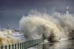 Storm surge at Seaburn, Sunderland (DM Allan) Tags: storm surge tidal seaburn lighthouse cliffepark roker sunderland wearside coast sea water nature
