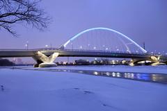 Lowry Ave Bridge (Sam Wagner Photography) Tags: lowry ave bridge lights winter snow mississippi river long exposure blue hour twilight skyline minneapolis minnesota midwest cityscape