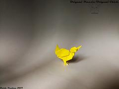 Origami Poussin - Origami Chick - Barth Dunkan. (Magic Fingaz) Tags: barthdunkan chick kuiken küken origami pilence piliç pintainho polluelo poussin pulcino νεοσσόσ пиле цыпленок लड़की 병아리 ひよこ 小鸡