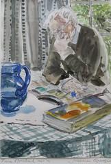 Joanna Quispel - Toine Moerbeek (2014) (Elisa1880) Tags: hollandse aquarellistenkring den haag the hague nederland netherlands pulchri studio joanna quispel toine moerbeek portret portrait