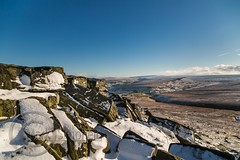 January Snow 2017 003 - Buckstones above Marsden (Mark Schofield @ JB Schofield) Tags: huddersfield pennines pennineway moors moorland peat nationalpark thenationaltrust marsden scammonden pulehill marchhaigh wessenden wessendenvalley meltham wessendenhead reservoir water watershed snow winter landscape bog rock ice outdoors open space panoramic canon 5dmk3 holmemoss mast