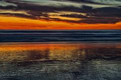 Sunset in Conil de la Frontera, Andalusia, Spain (Janos Kertesz) Tags: horizon sunset evening nature sky sea water sun ocean landscape reflection cloud wave summer beach conildelafrontera costadelaluz andalusia spain