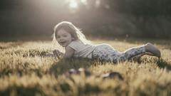 Happy Birthday (markfly1) Tags: sun light girl child birthday happy beautiful sweet candid rolling grass bare feet sigma 50mm art lens