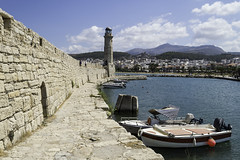 Rethymno Crete (Paul E. Dyer) Tags: travel light sea summer lighthouse holiday building tourism buildings boats greek coast boat town seaside nikon holidays ship harbour ships transport resort greece coastal crete 1855 rethymno oldharbour 2015 f3556 nikor d3200 180550mmf3556 180550